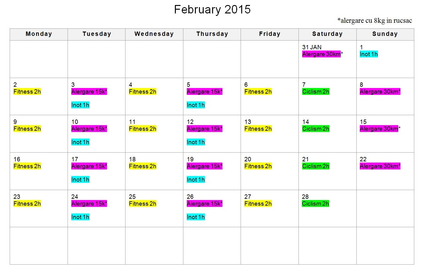 Antrenamente Februarie